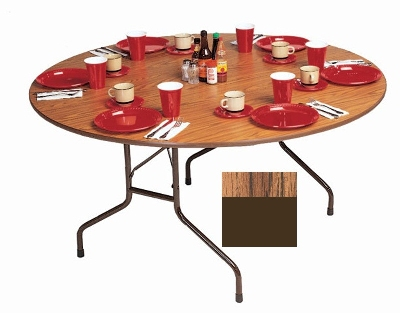 Correll CF48MR 06 48-in Round Melamine Folding Table w/ 5/8-in High Density To