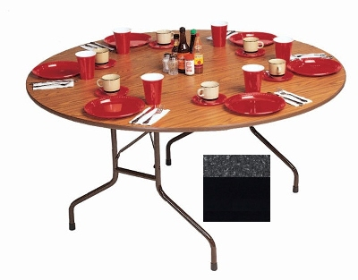 Correll CF48MR 07 48-in Round Melamine Folding Table w/ 5/8-in Hi
