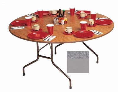 Correll CF48MR 15 48-in Round Melamine Folding Table w/ 5/8-in H