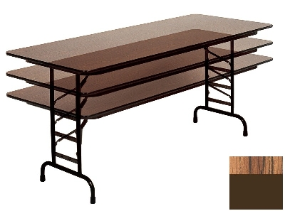 Correll CFA3048M 06 Melamine Folding Table w/ 5/8-in Top, Adjustab
