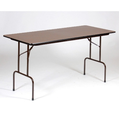 Correll CFS3072M Counter Height Work Table, 5/8-in Pressure Top, 30 x 72-in, 36-in H, Walnut/Brown