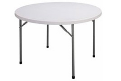 Correll CP48 33 Round Folding Economy Table, 48-in, Blow-Molded, Gray Granite