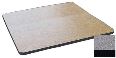 Correll CT24S 15 24-in Square Cafe Breakroom Table Top, 1.25-in High Pressure, Gray Granite
