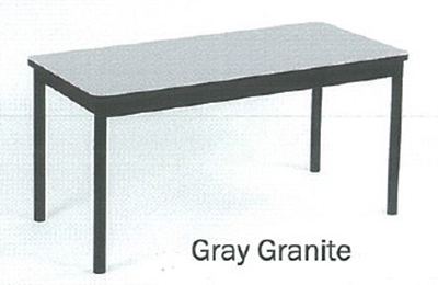 Correll LR3672 15 Economical Library Table Wear Resistant Surface T Mold Edge 36x72-in Gray Granite