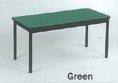 Correll LT2472 39 Economical Lab Table w/ Wear Resistant Surface & T Mold Edge, 24x72-in, Green