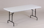 Correll R3072 23 Folding Table w/ Gray Molded Plastic Top, 30 x 72-in
