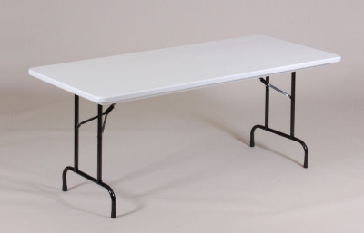 Correll RA3072 24 Folding Table w/ Mocha Plastic Top, Adjustable Height, 30 x 72-in