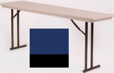 Correll RA3060 27 Folding Seminar Table w/ Blow-Molded Top, Adjusts To 32-in H, 30 x 60-in, Blue