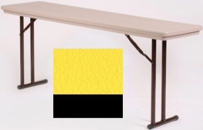 Correll RA3060 28 Folding Seminar Table w/ Blow-Molded Top, Adjusts