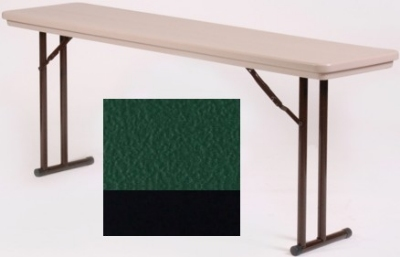 Correll RA2448 29 Folding Seminar Table w/ Blow-Molded Top, Adjusts To 32-in H, 24 x 48-in, Green