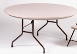 Correll R60 24 Folding Table w/ Mocha Molded Plastic Top, 60-in Round