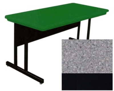 Correll RCS3060 15 26-in Computer Training Table w/ Blow-Molded Top, 30 x 60-in, Gray Granite