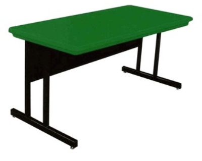 Correll RCS3072 29 26-in Computer Training Table w/ Blow-Molded Top, 30 x 72-in, Green