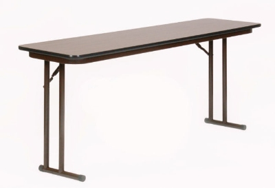 Correll ST2460PX 01 Folding Seminar Table, 3/4-in Walnut High Pressure Top, 24 x 60-in