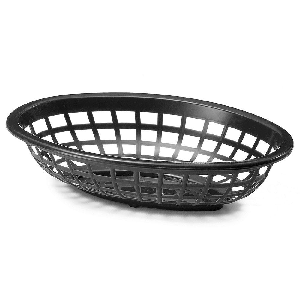 Tablecraft 1071BK Oval Side Order Basket, 7.73 x 5.5 x 1-7/8-in, Black