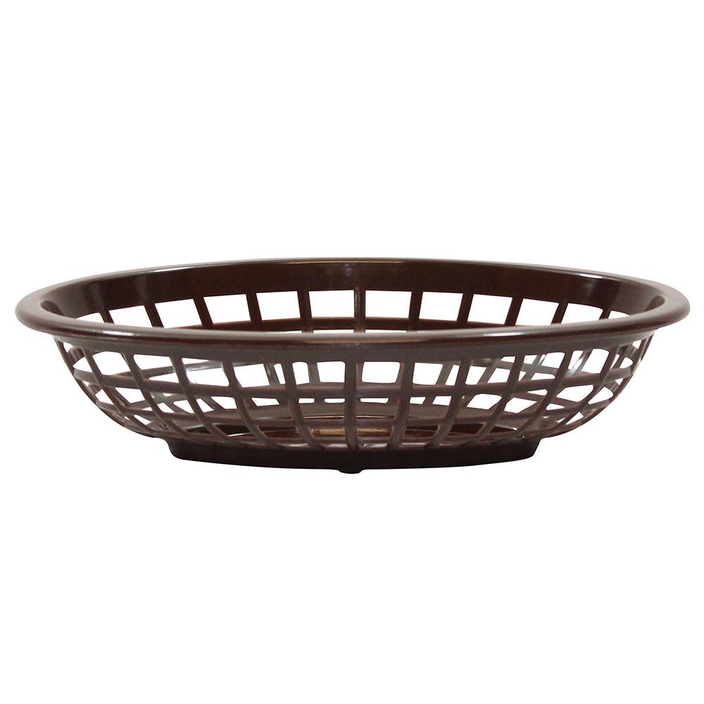 Tablecraft 1071BR Oval Side Order Basket, 7.73 x 5.5 x 1-7/8-in, Brown