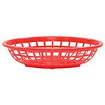Tablecraft 1071R Oval Side Order Basket, 7.73 x 5.5 x 1-7/8-in, Red
