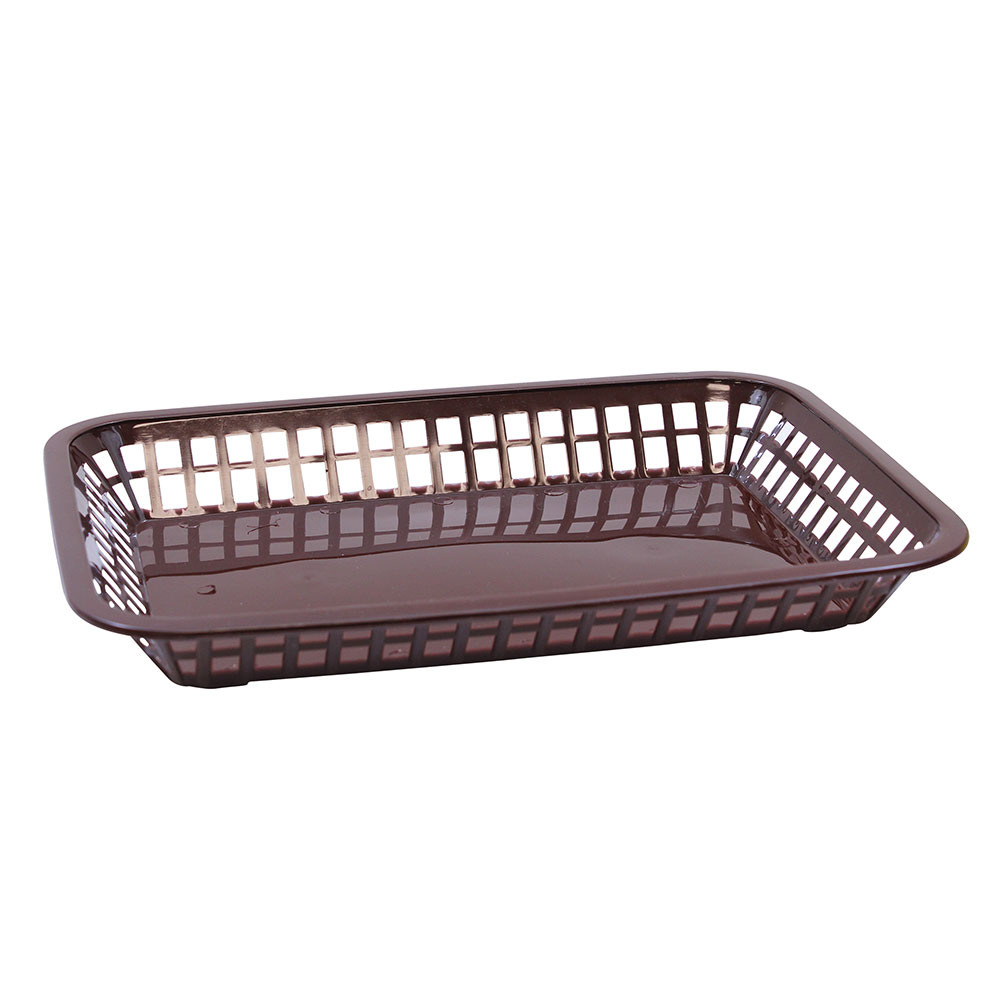 Tablecraft 1079BR Platter Basket, 11.75 x 8.5 x 1.5-in, Rectangul