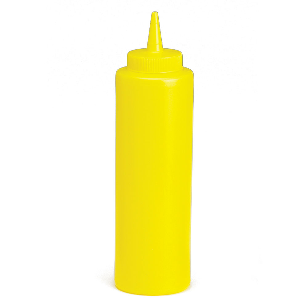Tablecraft 112M Squeeze Dispenser, 12 oz, Yello