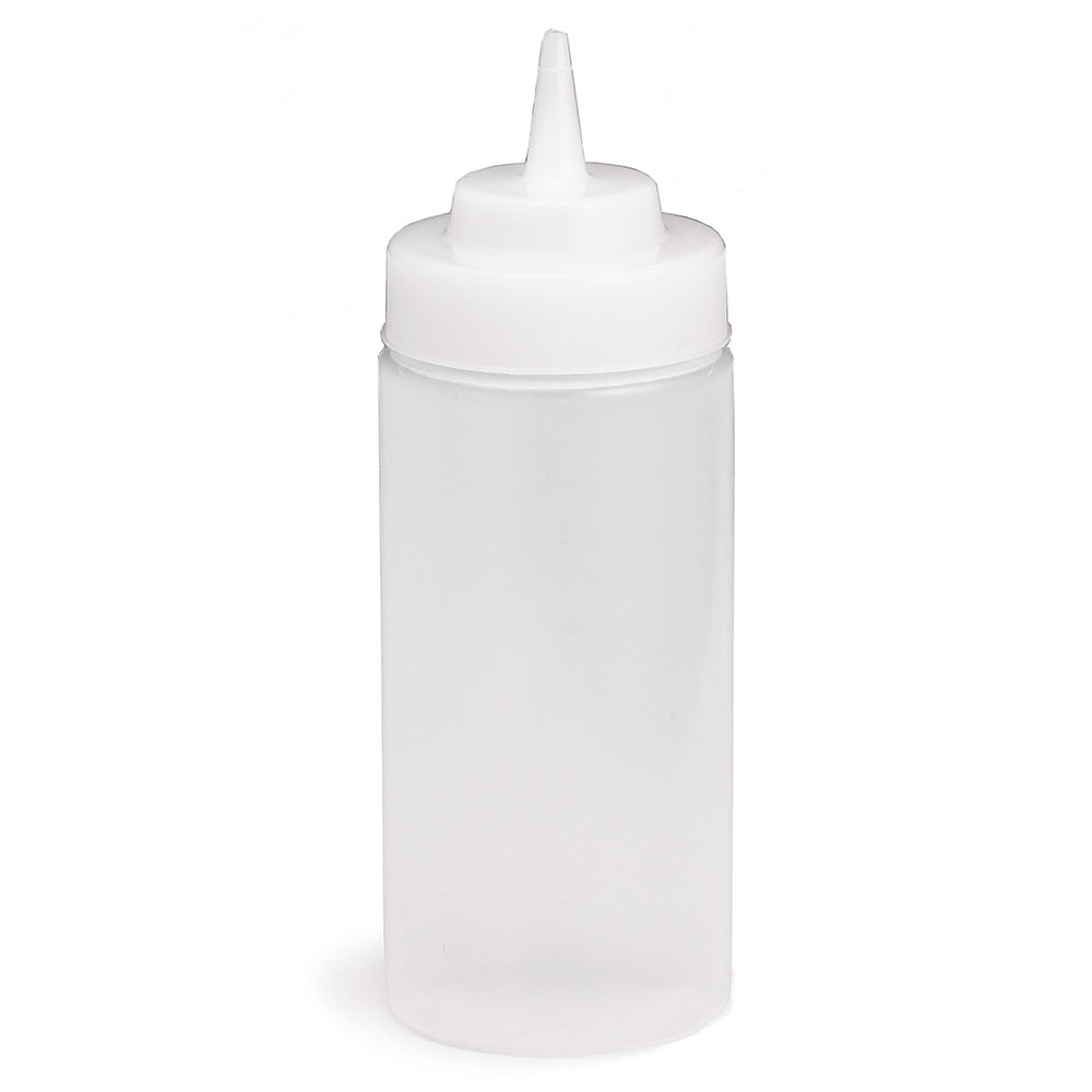 Tablecraft 11663C Wide Mouth Squeeze Dispenser, 16 oz., Soft Polyethylene, Clear