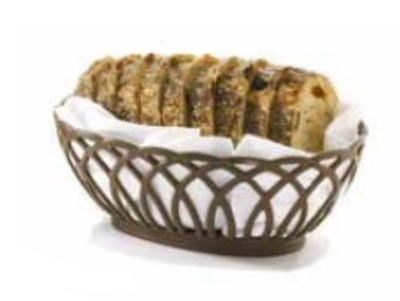 Tablecraft 1374BE Oval Vineyard Basket, 9 x 6.25 x 3.25-in, Poly, Beige