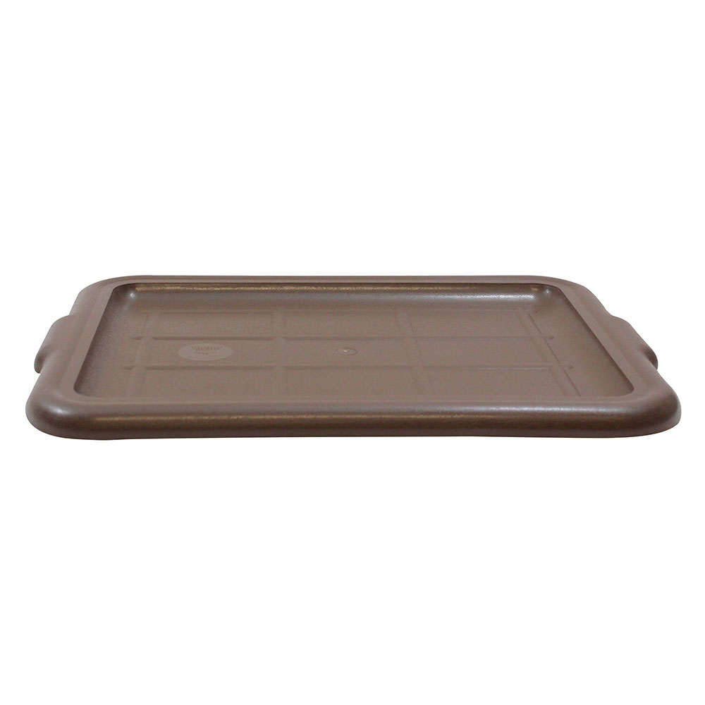 Tablecraft 1531BR Bus Tote Box Cover, High Impact Styrene, Brown