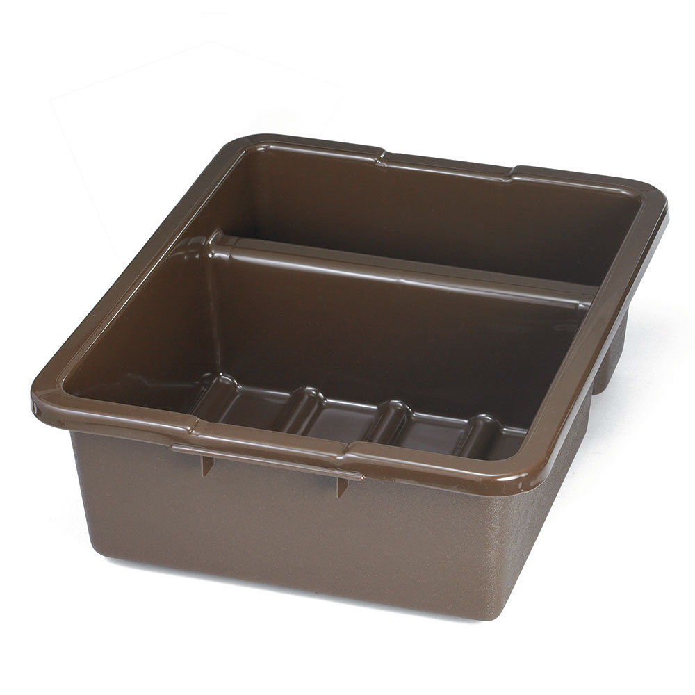 Tablecraft 1547BR Divided Tote Box, 15 x 22 x 7-in Deep, Brown