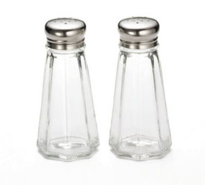 Tablecraft 156S&P-2 3-oz Paneled Glass Salt &