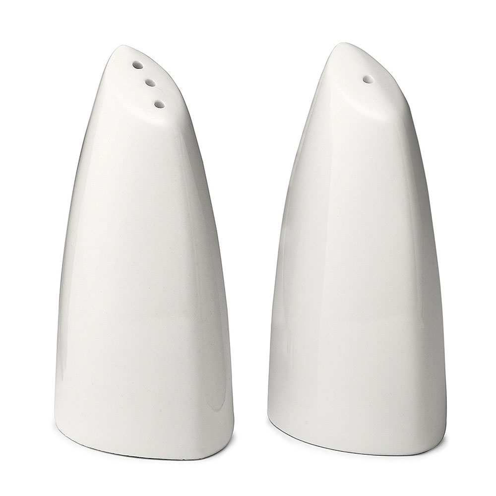 Tablecraft 182 Porcelain Salt & Pepper Shakers, 2 oz Cap