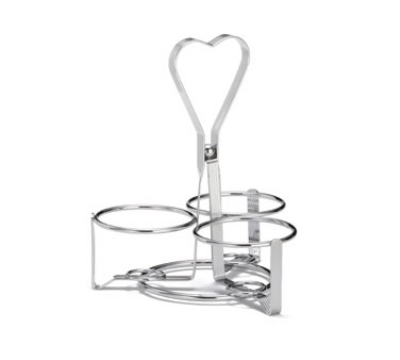 Tablecraft 406-3R 3-Ring Dispenser Condiment Rack, Chrome Plate