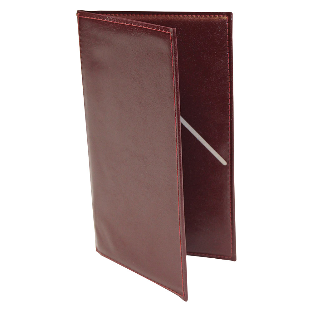 Tablecraft 59BU Check Presentation Holder, Burgundy w/