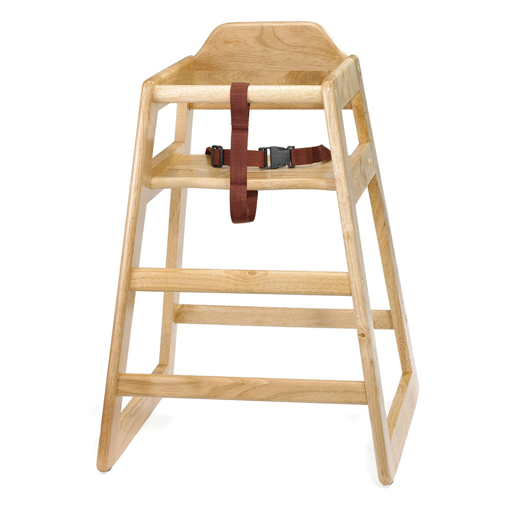 Tablecraft 65A High Chair, Hardwood, Natural, Assembled
