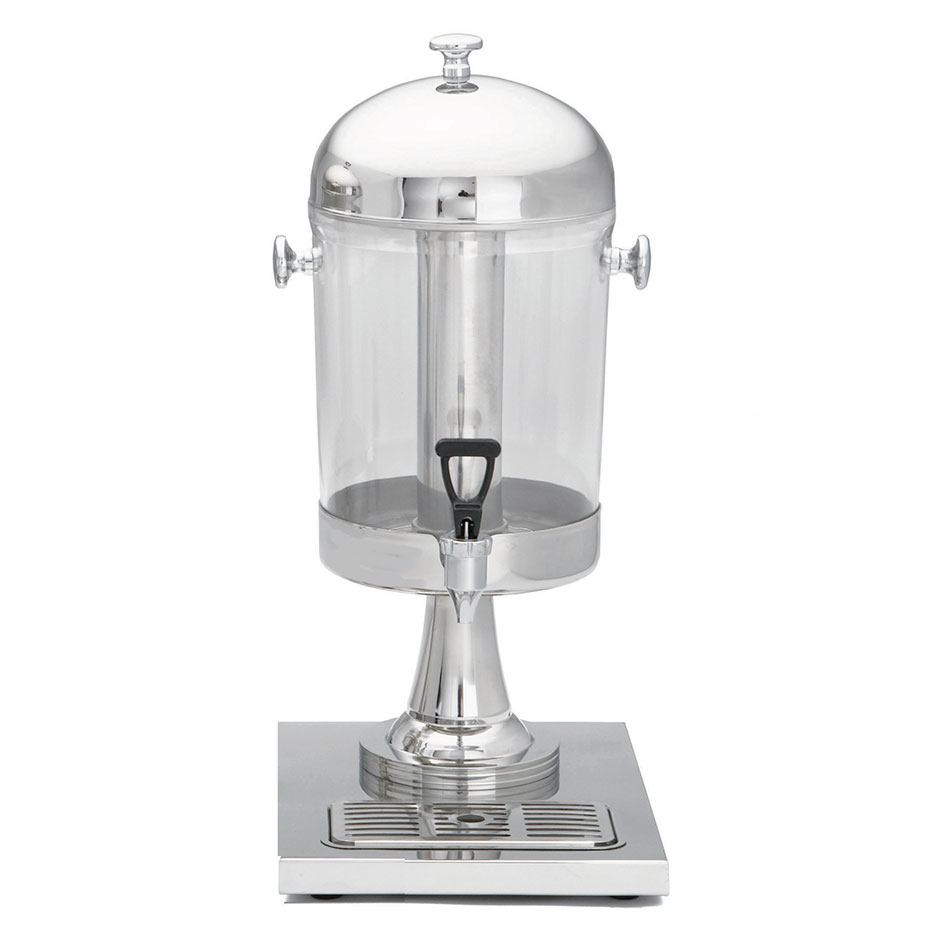 Tablecraft 71 2.1 Gal Beverage Dispenser, Polycarbonate w/ Stainless Steel Base & Center Core