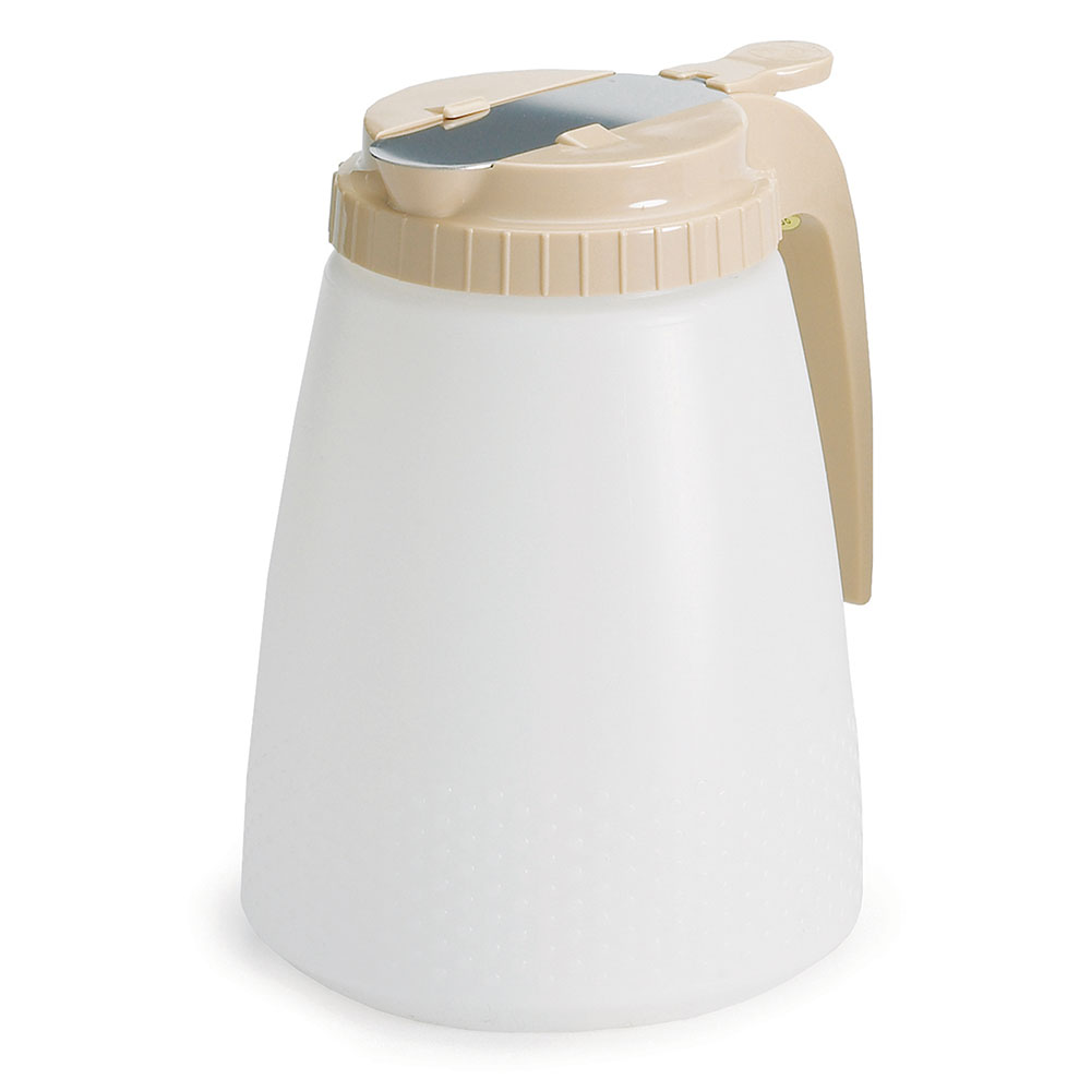 Tablecraft 748A Dispenser, 48 oz., Almond ABS Top, All Purpose