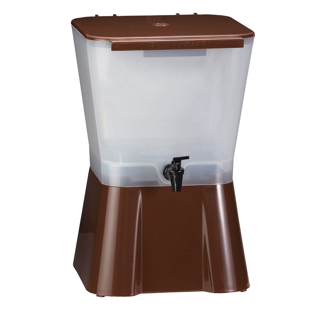 Tablecraft 954 Beverage Dispenser, 3 Gallon, Brown Base, Poly, Tomlinson Faucet