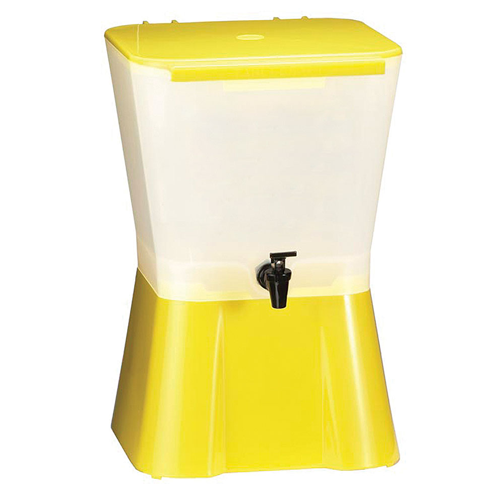 Tablecraft 955 Beverage Dispenser, 3 Gallon, Yellow Base, Poly, Tom
