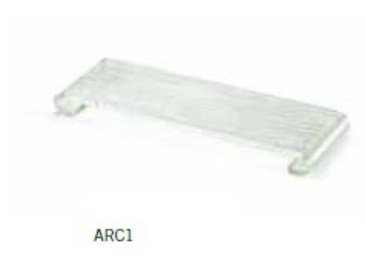 "Tablecraft ARC1 14.5"" Rectangle Riser w/ Curved Legs, Acrylic"