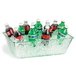 Tablecraft AT2012 Rectangular Cristal Collection Beverage Tub, 20 L x 12 W  x 6 in H, Acrylic