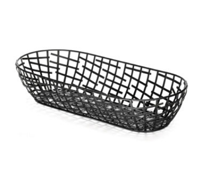 Tablecraft BC1815 Black Metal Serving Basket, 15 x 6.25
