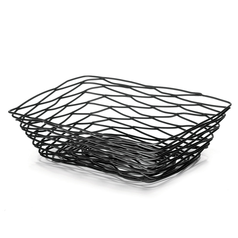 Tablecraft BK17209 Artisan Collection Basket, 9 in x 6 in x 2.5 in, Rectangular, Black