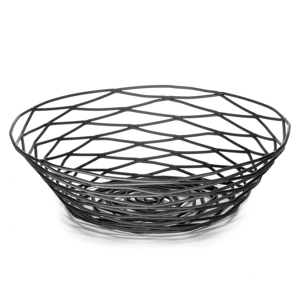 Tablecraft BK17508 Artisan Collection Basket 8 in x 2 in Round Black Restaurant Supply