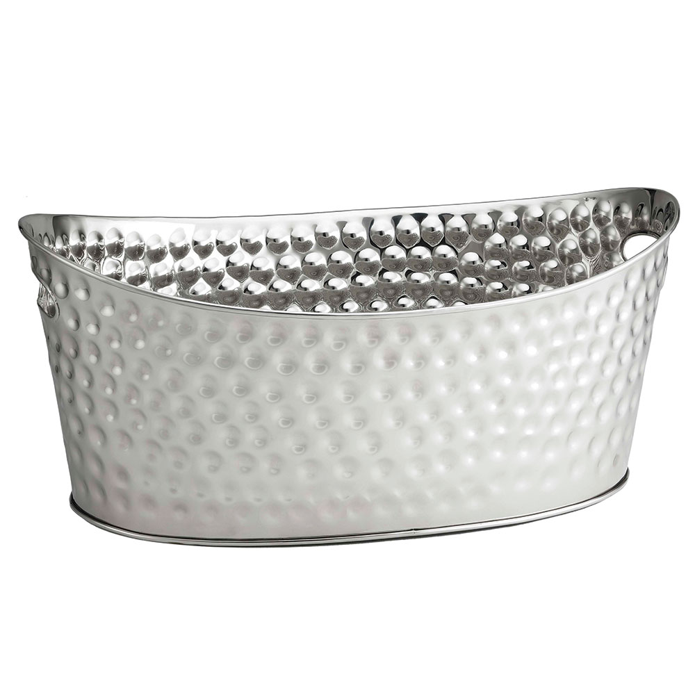 Tablecraft BT2013 Oval Beverage Tub, 20.5 x 13.5 x 8.75-in, Stainless