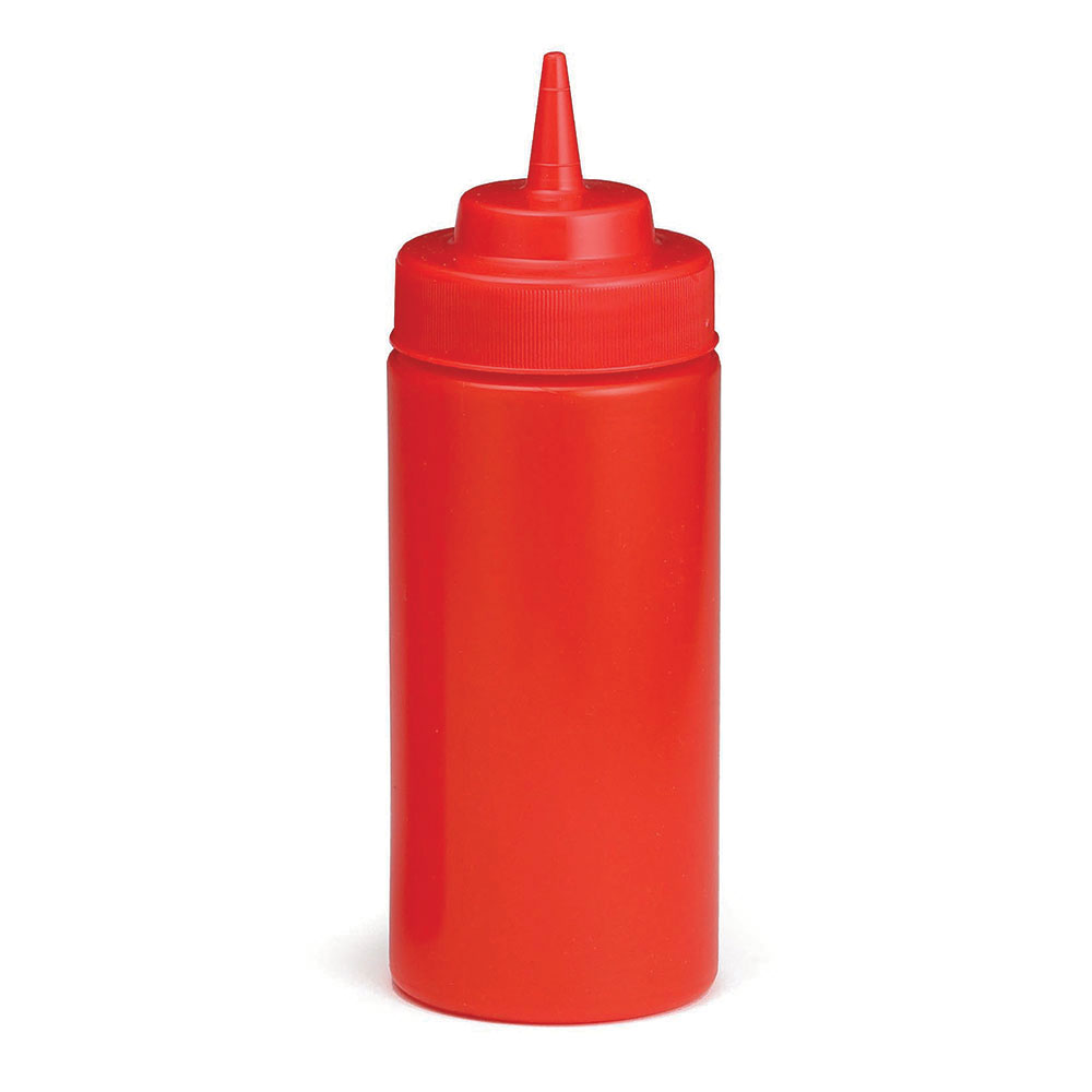 Tablecraft C11663K Cash And Carry WideMouth Squeeze Dispenser 16-oz Red Restaurant Supply