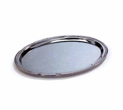 Tablecraft CT129 Oval Serving Tray Embossed Pattern 12 x 8.75 i Restaurant Supply