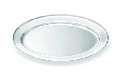 Tablecraft CTX1815 Oval Serving Platter Rolled Edge Restaurant Supply