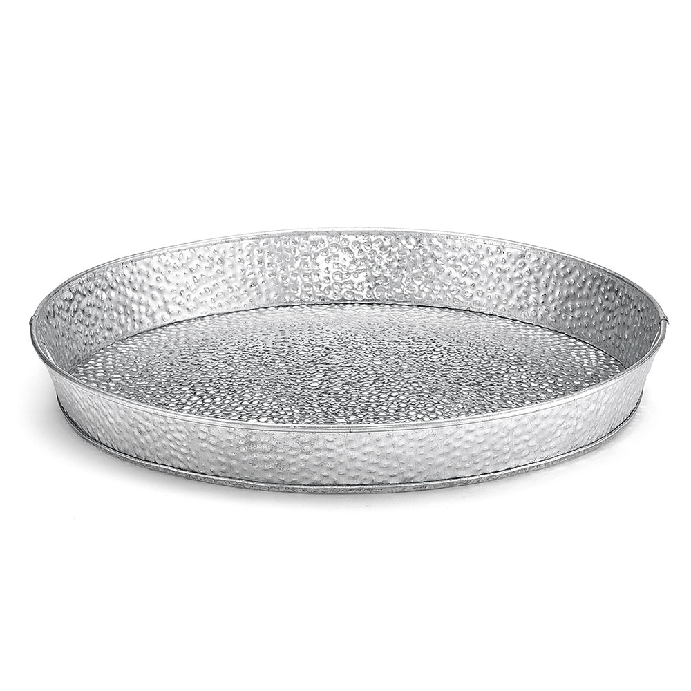 Tablecraft GP10 10.5-Round Dinner Platter, Galvanized Steel
