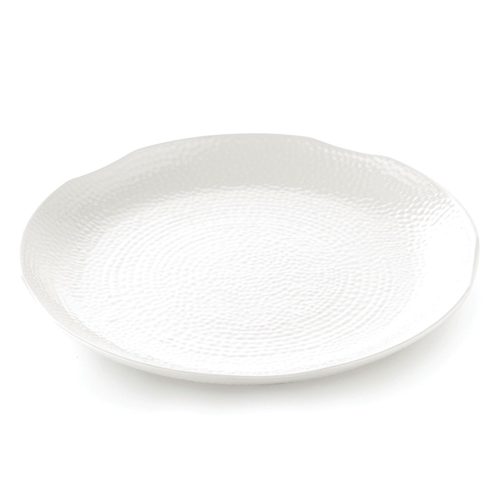 Tablecraft M18 Pebble Pattern Frostone Collection Tray 18 in Dia Restaurant Supply
