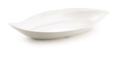 Tablecraft MB2313 Frostone Collection Dish Eye Shaped Restaurant Supply