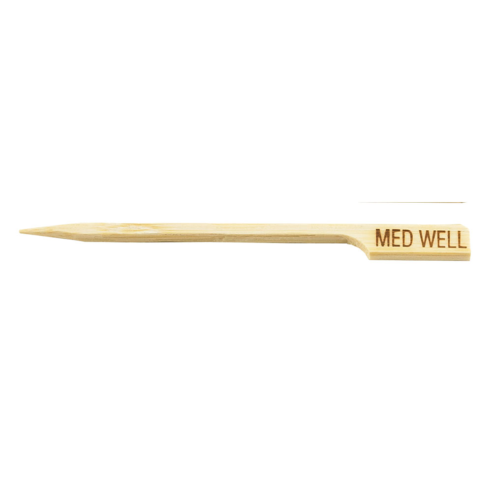 Tablecraft MEDWELL 3.5-in Bamboo Meat Marker Pick, Medium Well
