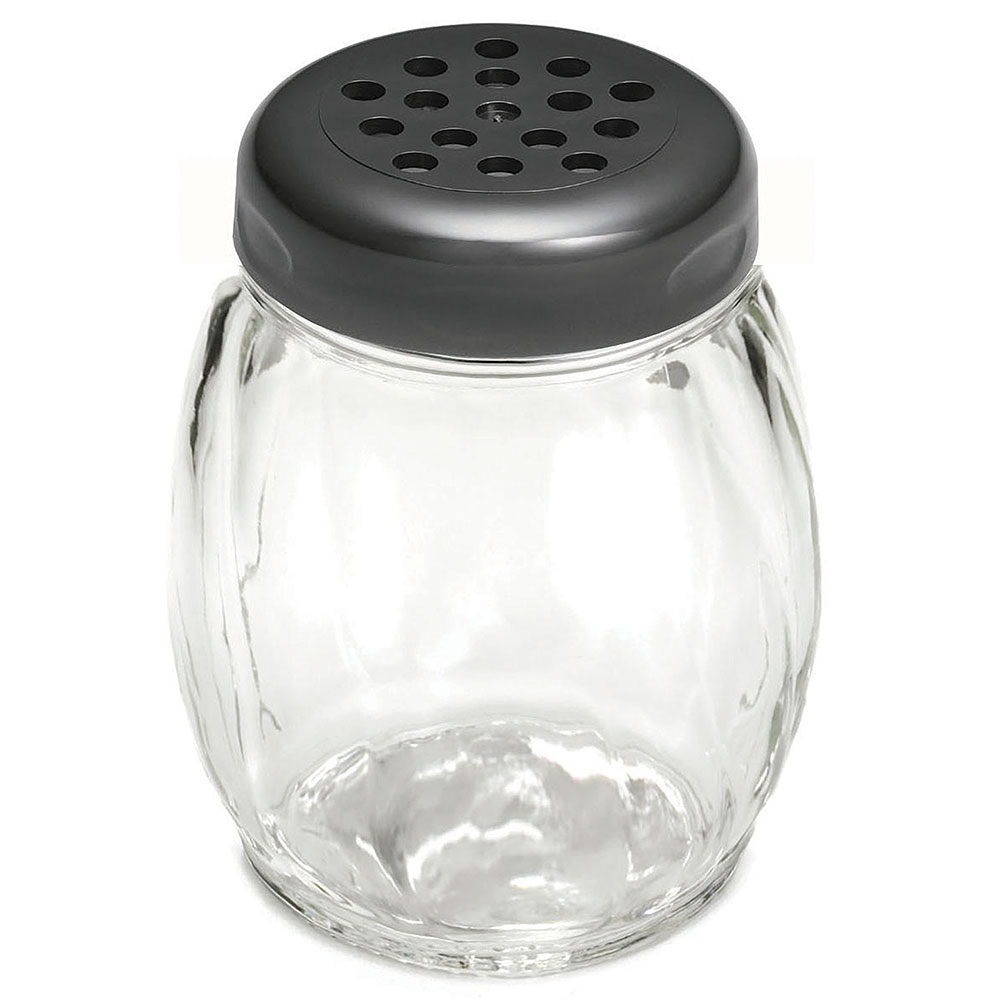 Tablecraft P260BK 6-oz Swirl Plastic Shaker w/ Perforated Top, BPA Free, Black
